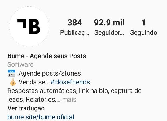 Biografia do Bume