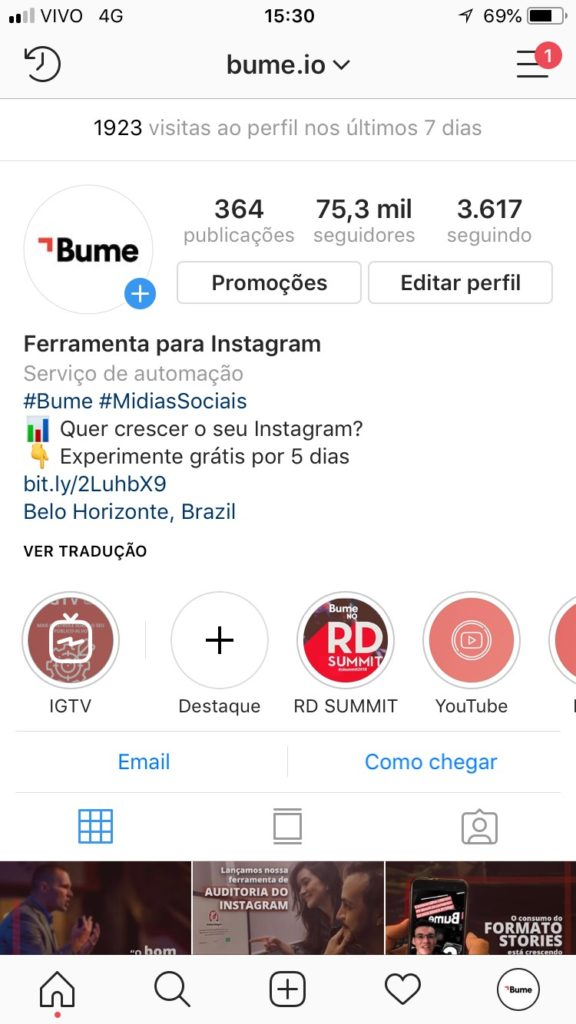 instagram updates 2018 - hashtag no perfil